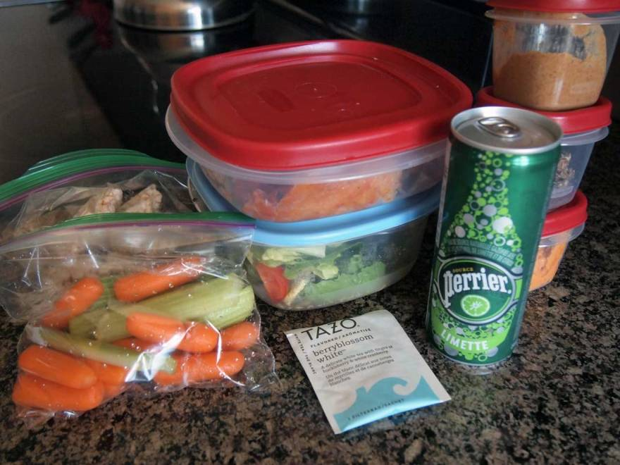 Packing a work lunch requires a bit of imagination and a LOT of tupperware. Photo by Therese Kehler
