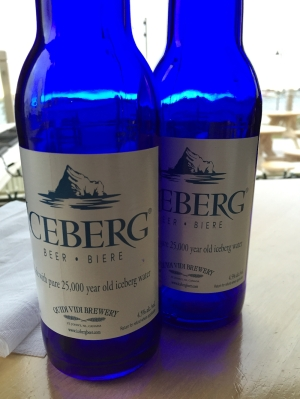 Bottles of Iceberg Beer made by Quidi Vidi