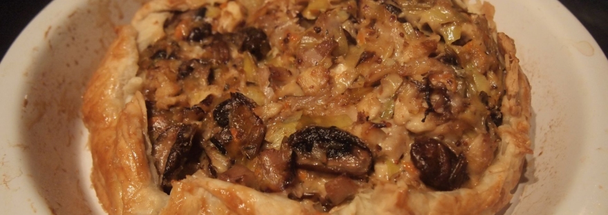 Turkey and leek galette
