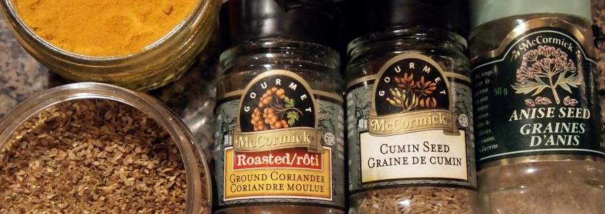 Spices used in the curried chicken casserole