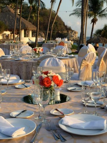 From the beachfront service to evening fireworks, the hotel went all out for a wedding held at the resort in December 2016. Credit: Therese Kehler, December 2016