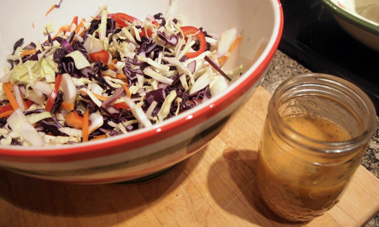 Coleslaw with a spicy Thai vinaigrette