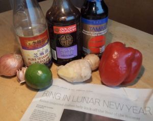 An article in the Edmonton Journal inspired today's $#100daysofcooking challenge, to use hoisin sauce