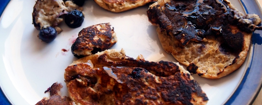 When food photography goes wrong: this batch of banana pancakes didn't quite work out