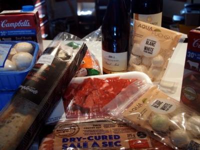 Ingredients for Boeuf Bourguignon