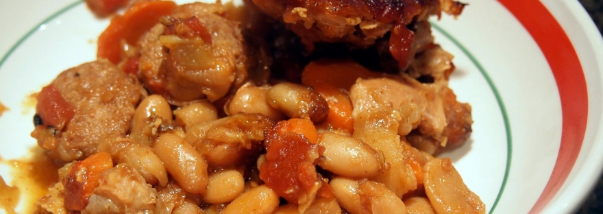 Beans that melt in your mouth are the heart of the simple cassoulet.