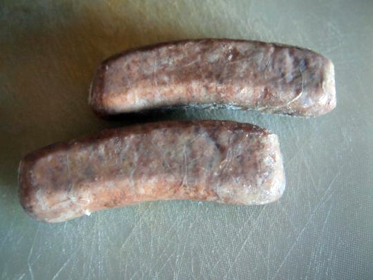 These sad little sausages went on to become a great cassoulet.