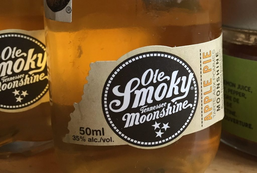 Ole Smoky Tennessee Moonshine: too sweet to drink but perfect for pie