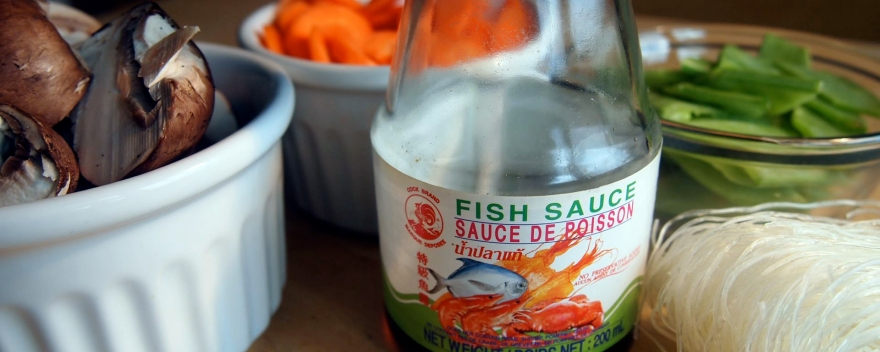 Fish sauce and other soup ingredients
