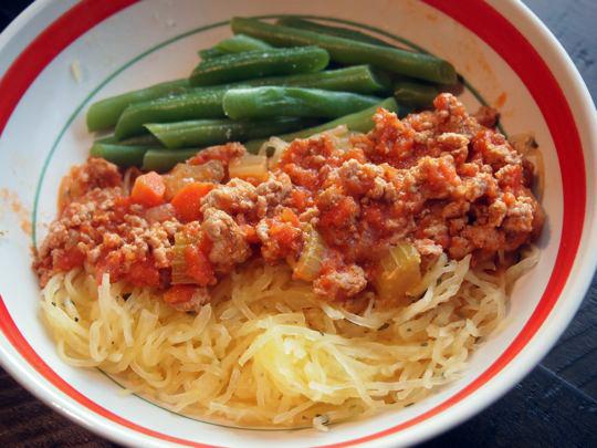 Turkey Bolognese with Spaghetti Squash