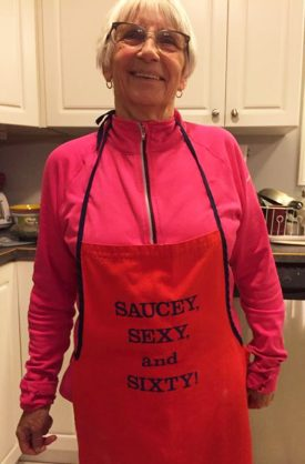 Annie Barnes, ready to tackle the next kitchen mission.