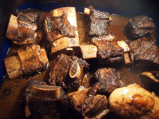Bourbon-braised beef short ribs