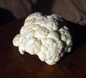 The cauliflower was going a bit brown.