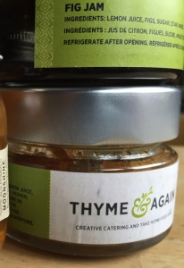 Two kinds of jam — fig and onion — from Ottawa's Thyme & Again caterer and cafe.