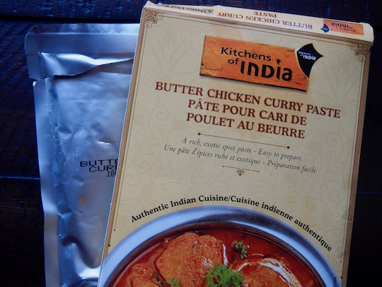 Kitchens of India spice paste comes with one packet per box, but I find that is enough for two dinners.