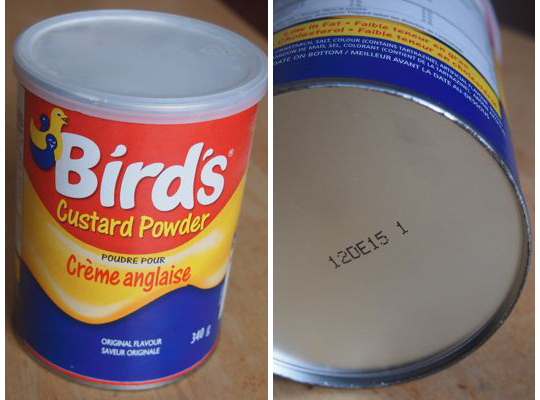 Dan owned this tin of Bird's Custard Powder when we met in 1999. Both it and Dan have remarkable staying power.