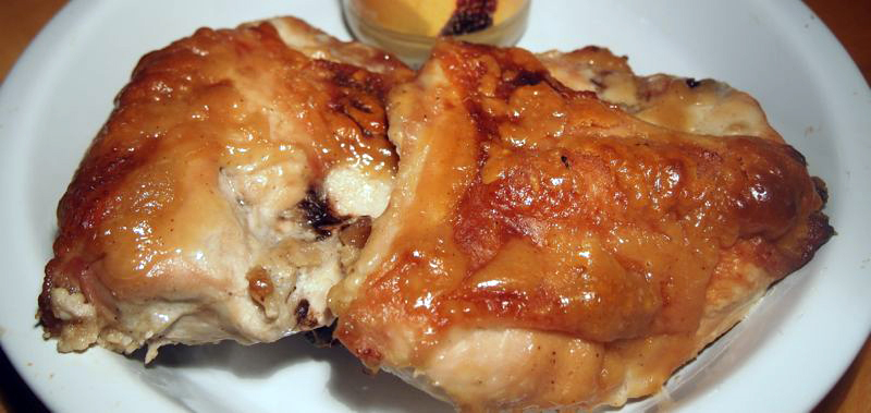 Tahini-and-honey roast chicken