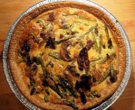 Asparagus and Sun-Dried Tomato Quiche
