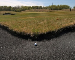 Another well-protected green at Coal Creek golf course near Ryley, Alberta.