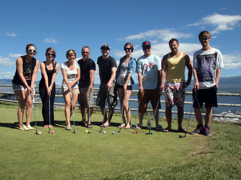 In 2013, Dan and I had a summer vacation in the Okanagan with our adult kids. The quality family time included a visit to the 19 Greens putting course in West Kelowna.