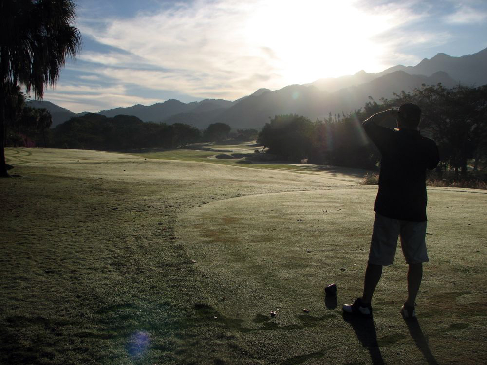 For many years, the Marival all-inclusive resort in Nuevo Vallarta included rounds of golf at the beautiful Vista Vallarta courses. We were often the first group off the tees.