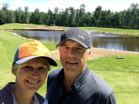 Always time for a quick selfie. This one was shot on the fourth green — Barrhead's signature hole.