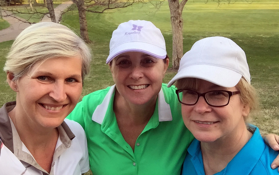 Me with Golfarounders (and former colleagues at the Journal) Barb and Lyn, following our first game of the year at Victoria Golf Course.