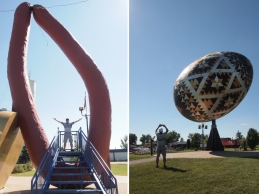 As long as you are in the area, you really ought to go check out the big things: the giant sausage in Mundare and the huge Easter Egg in Vegreville.