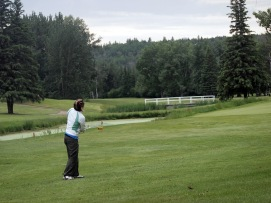 Nestled into the North Saskatchewan River valley, the course is lush, green and full of mature trees.