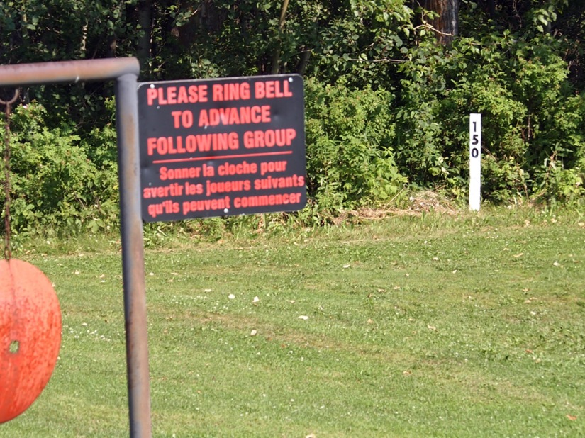 The 150-yard markers are the only fairway markers at Elk Island Golf Course.
