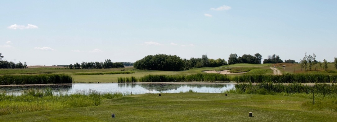 The Whitetail Crossing Golf Club is all about the wetlands. Ten holes either have water or naturalized wetlands.