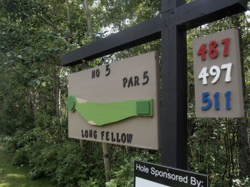 Plenty of personality at Pineridge Golf Course, where each hole has been given a whimsical name.